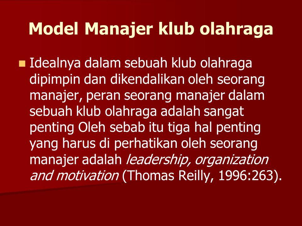 Model Manajer klub olahraga