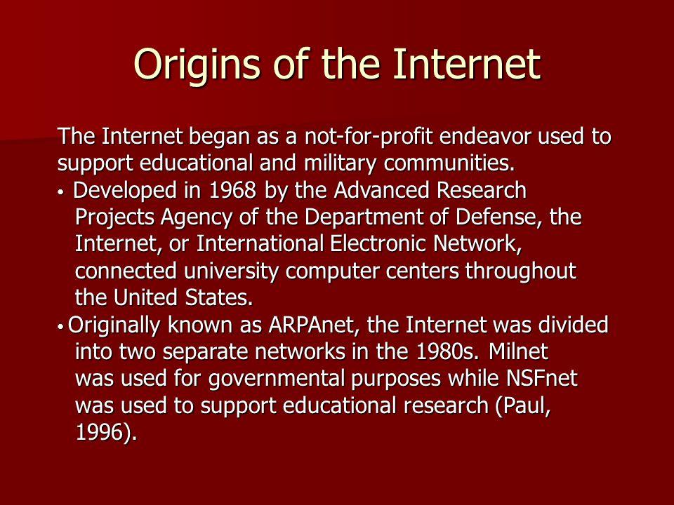 Origins of the Internet