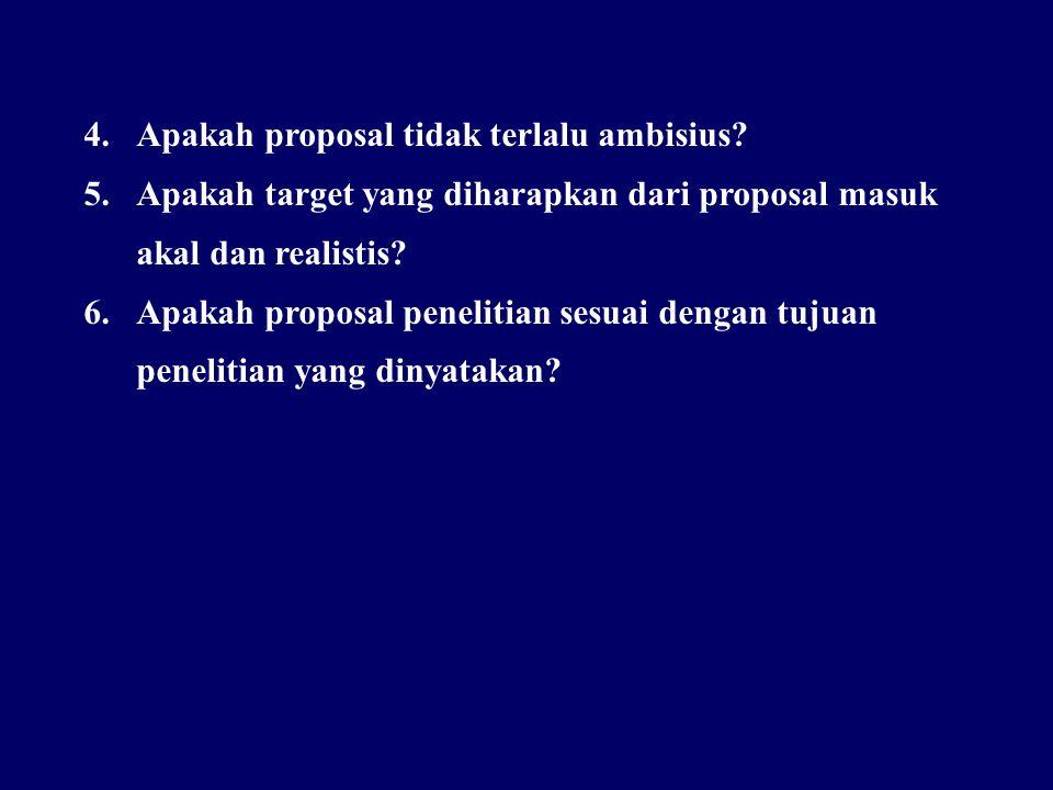 Apakah proposal tidak terlalu ambisius