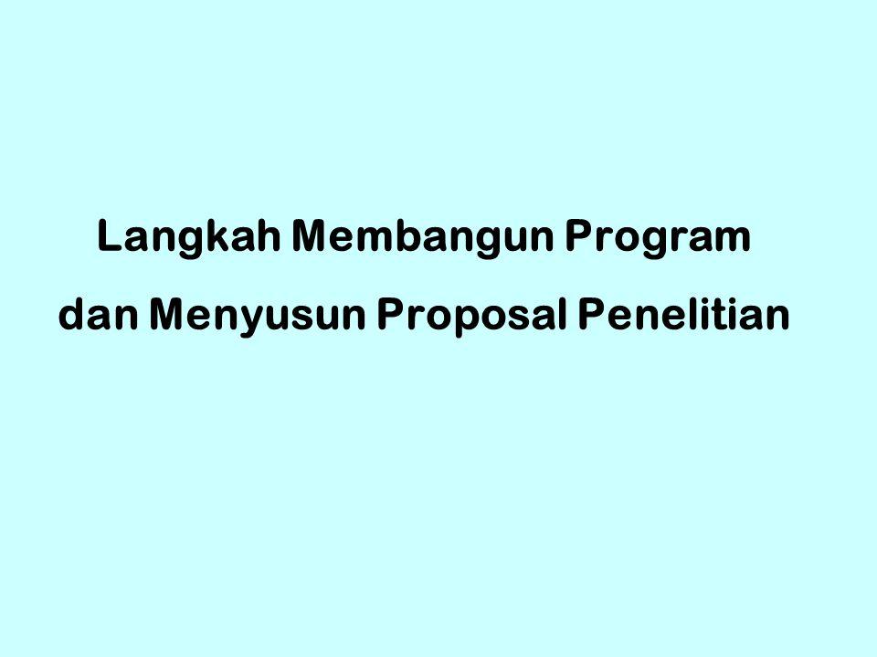 Langkah Membangun Program dan Menyusun Proposal Penelitian