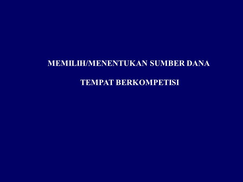 MEMILIH/MENENTUKAN SUMBER DANA