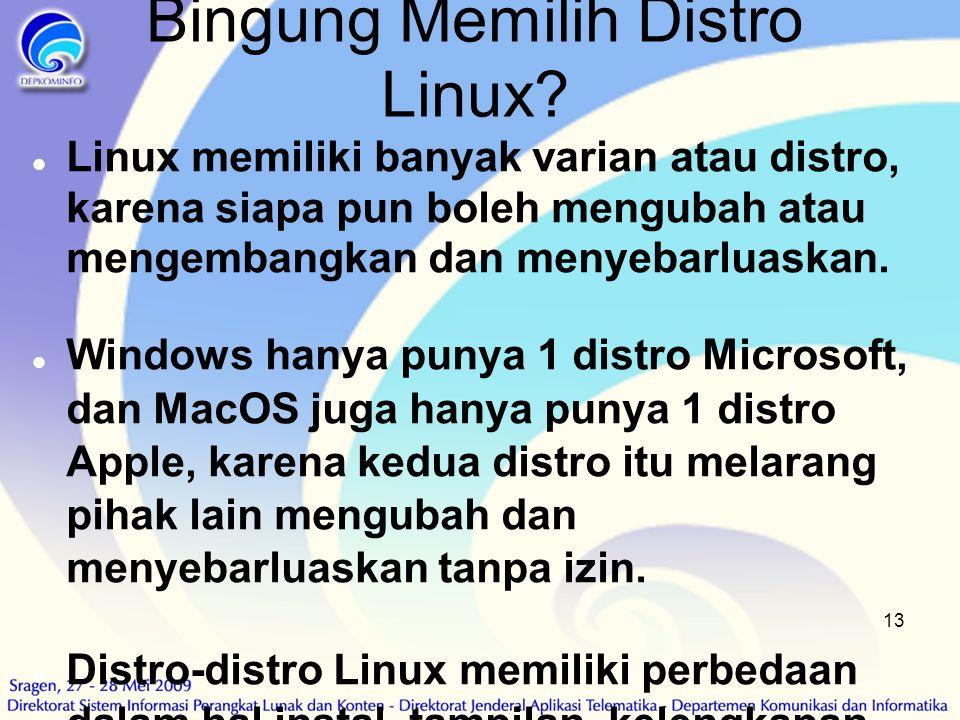Bingung Memilih Distro Linux
