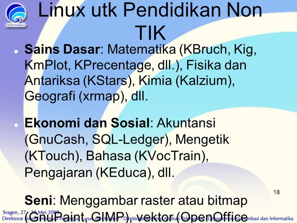 Linux utk Pendidikan Non TIK