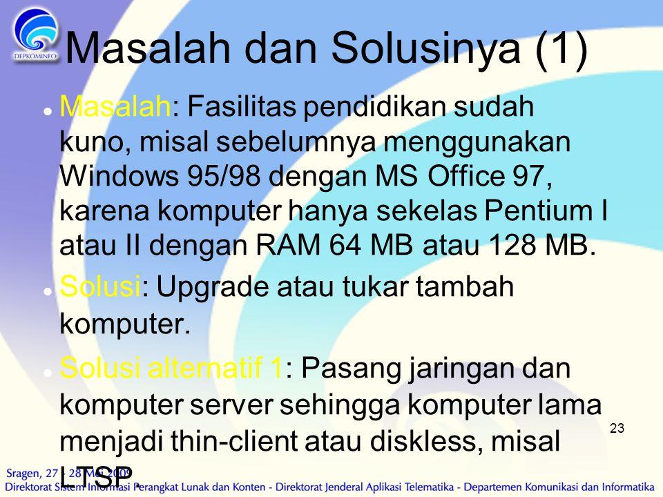 Masalah dan Solusinya (1)