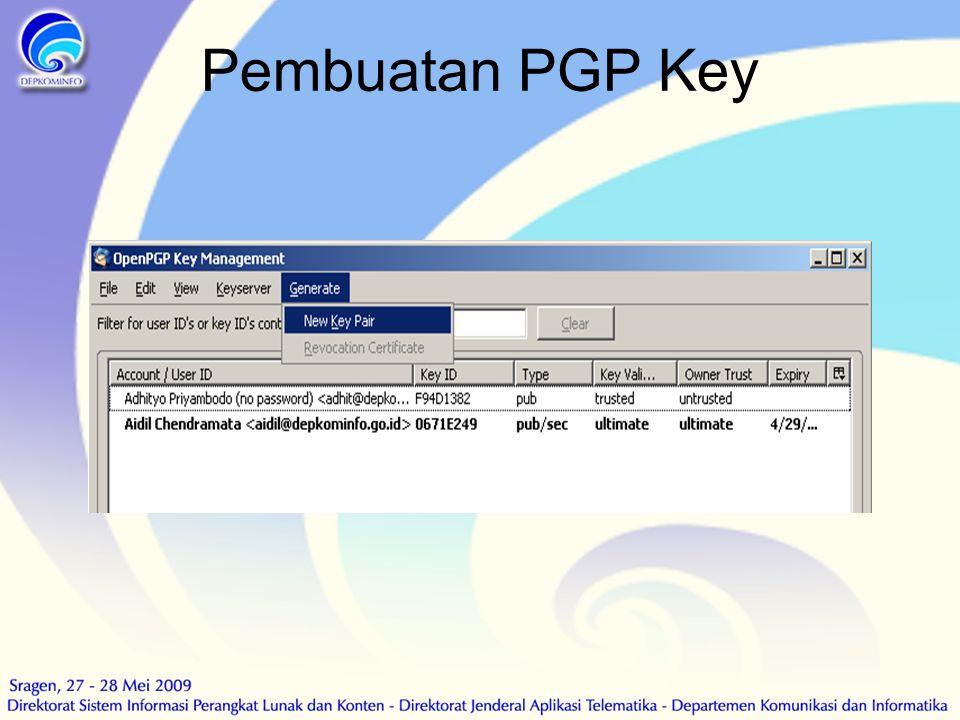 Pembuatan PGP Key