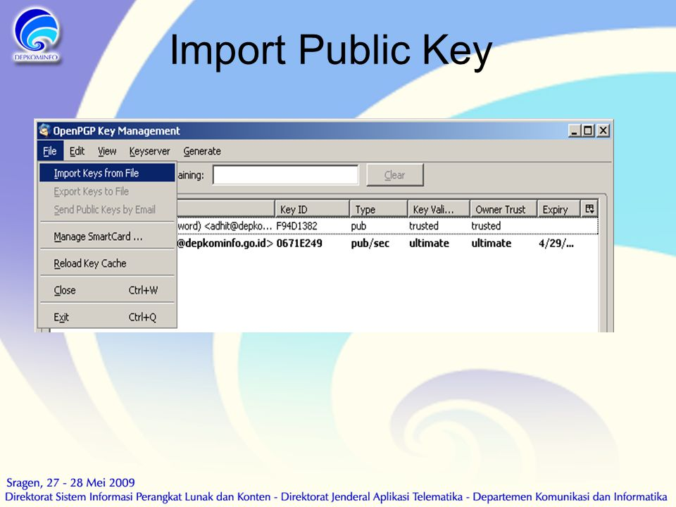Import Public Key