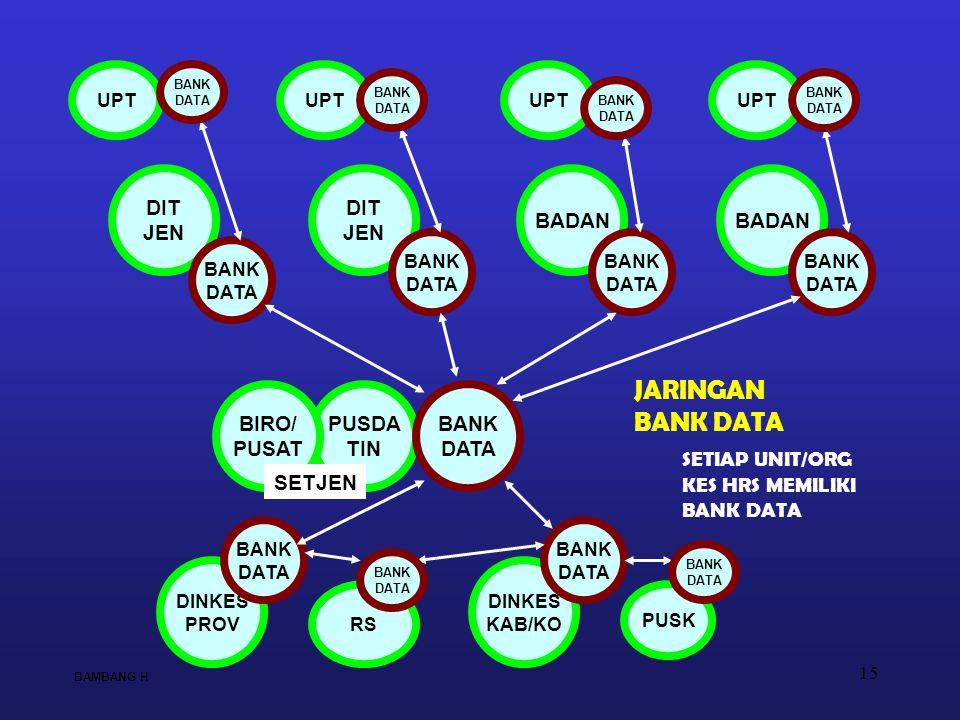 JARINGAN BANK DATA DIT JEN DIT JEN BADAN BADAN BIRO/ PUSAT PUSDA TIN