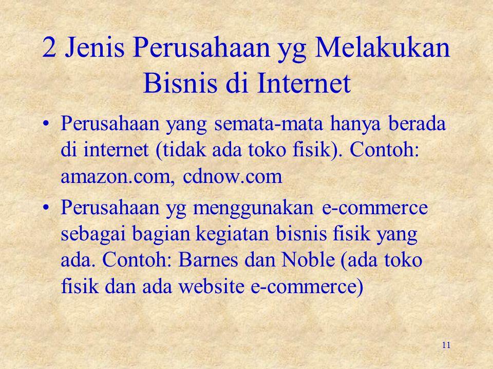 2 Jenis Perusahaan yg Melakukan Bisnis di Internet