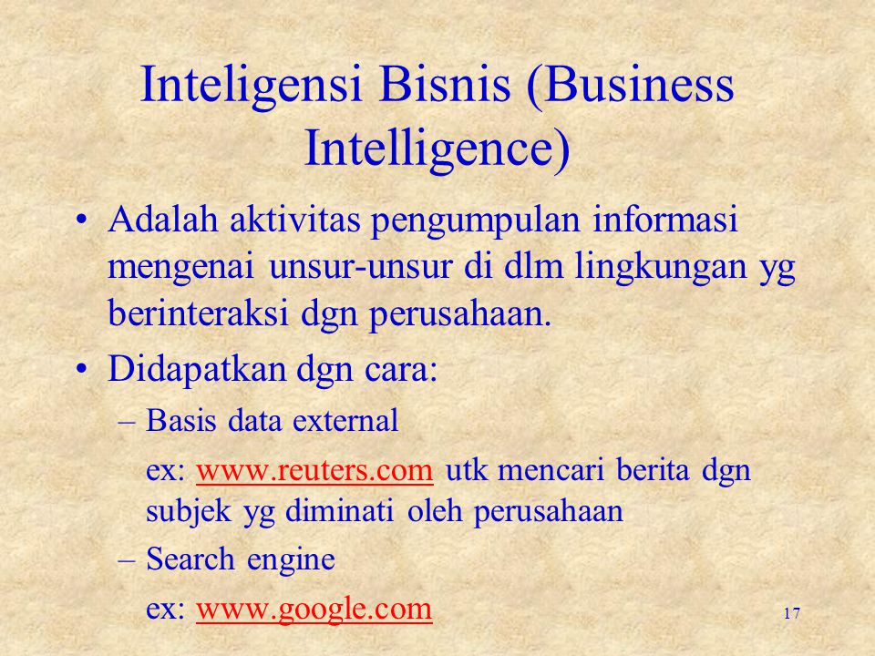 Inteligensi Bisnis (Business Intelligence)