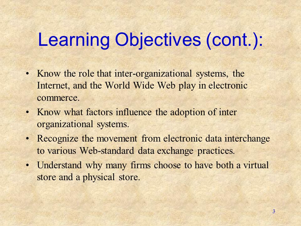 Learning Objectives (cont.):