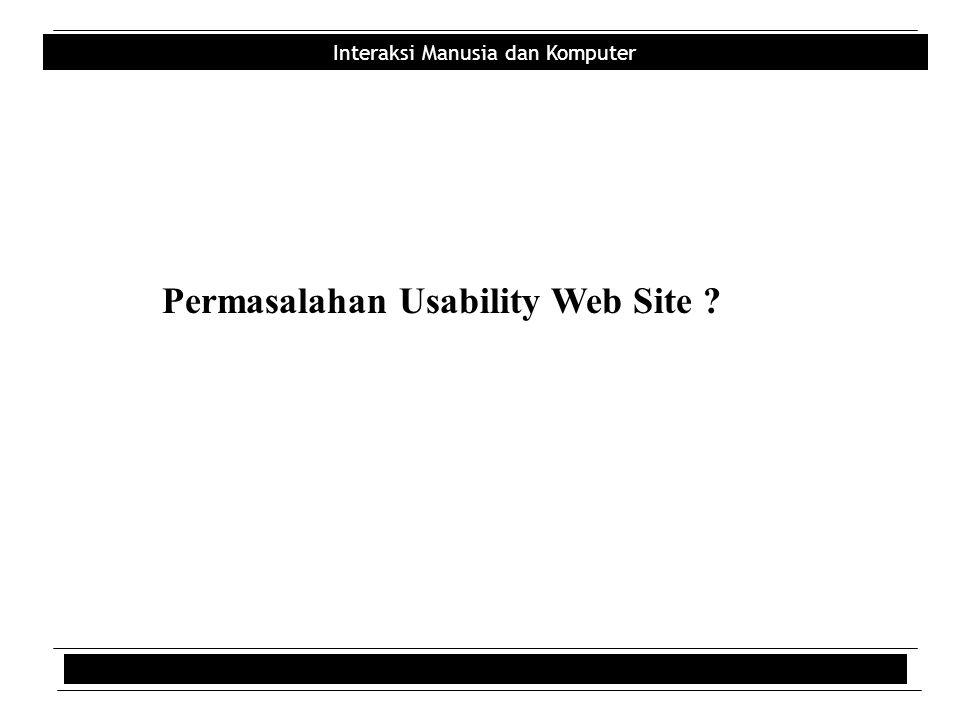 Permasalahan Usability Web Site
