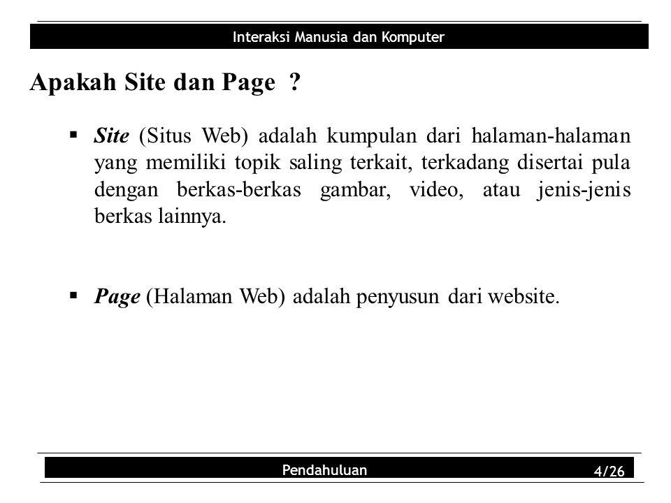 Apakah Site dan Page