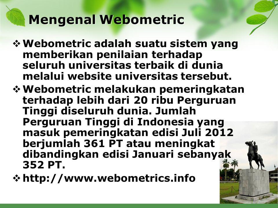 Mengenal Webometric