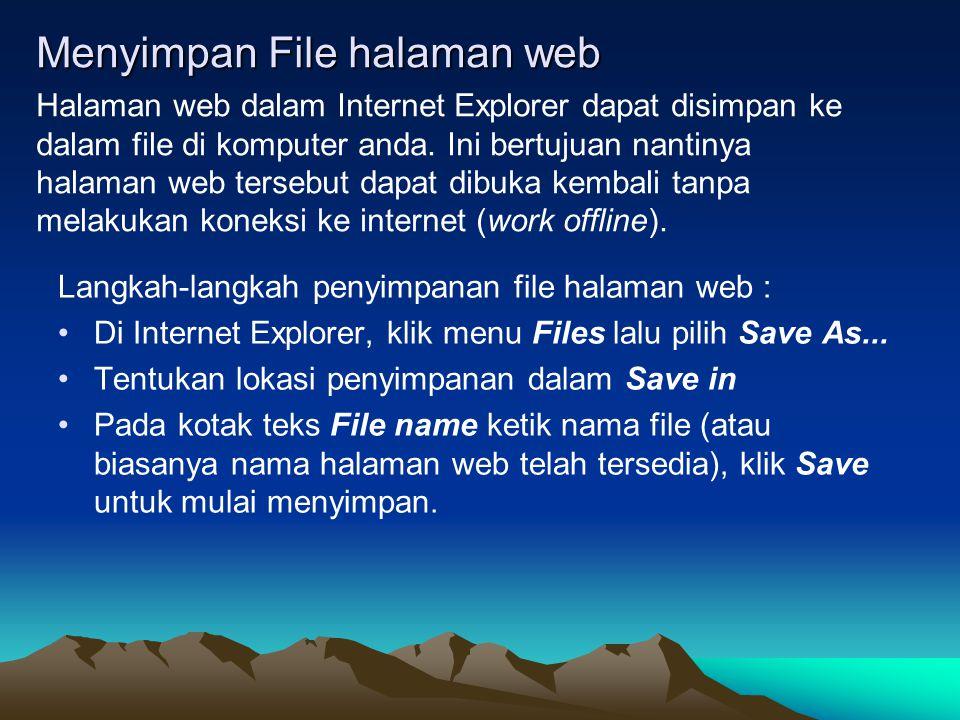 Menyimpan File halaman web
