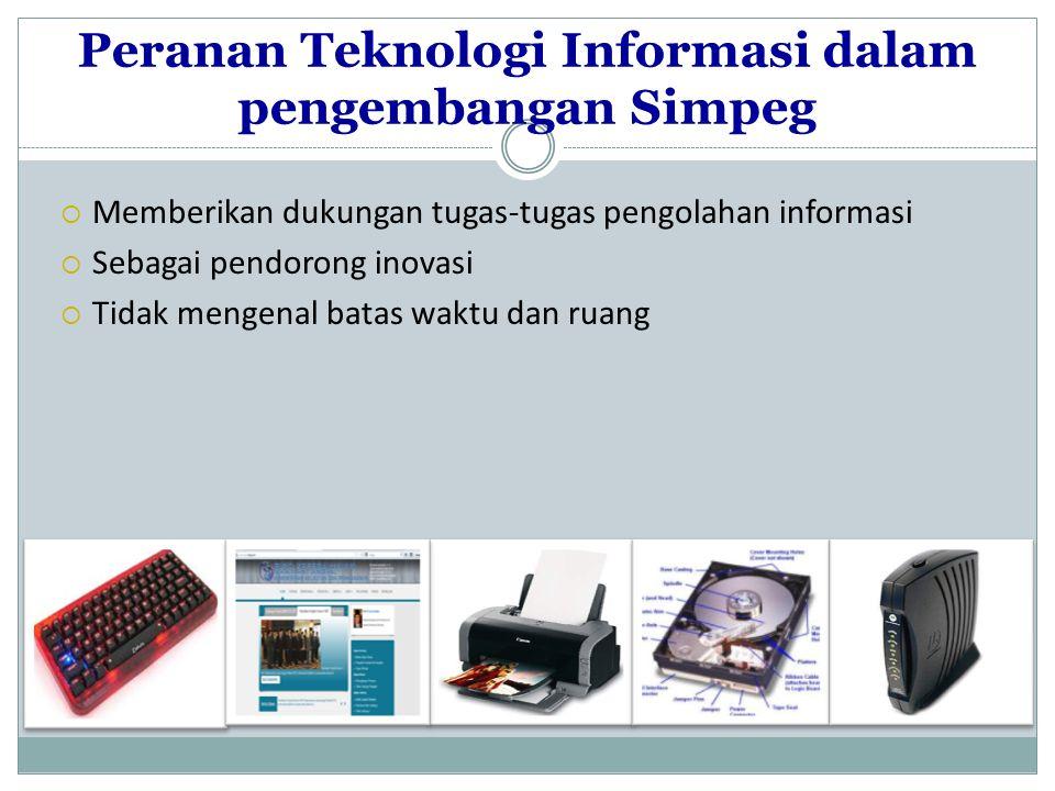 Peranan Teknologi Informasi dalam pengembangan Simpeg