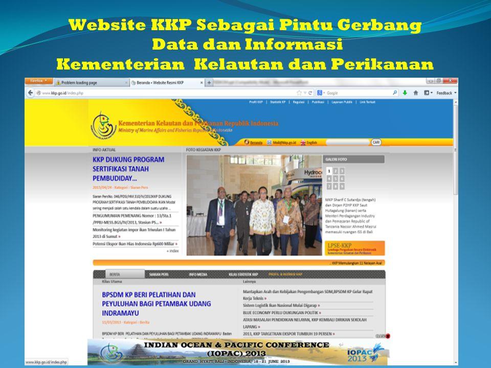 Website KKP Sebagai Pintu Gerbang Kementerian Kelautan dan Perikanan