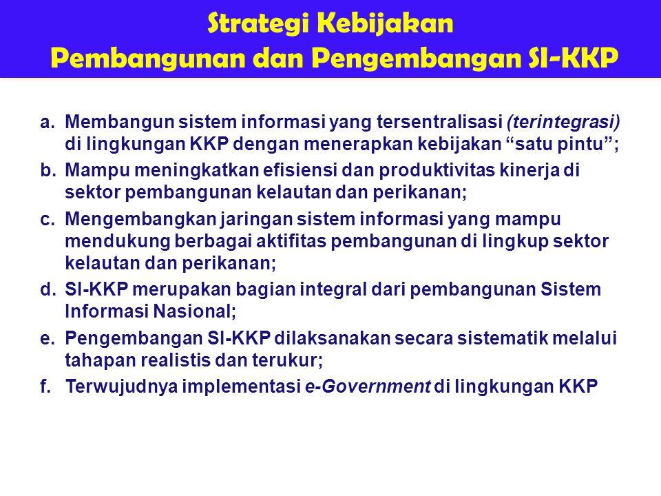 Pembangunan dan Pengembangan SI-KKP