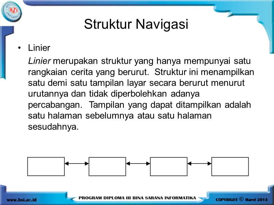 Struktur Navigasi Linier