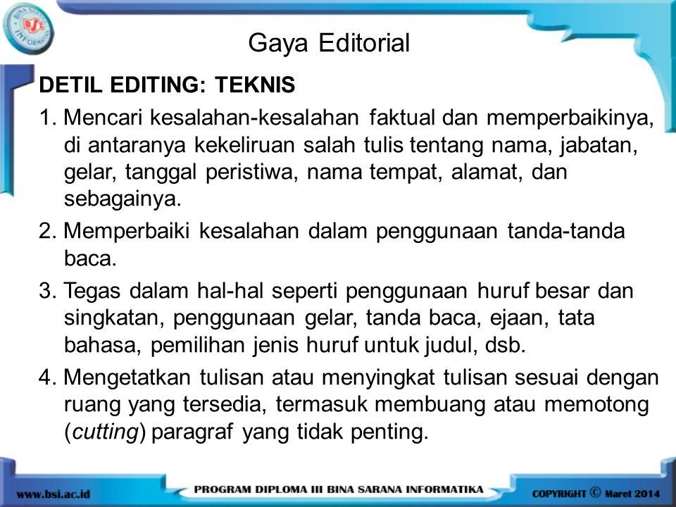Gaya Editorial
