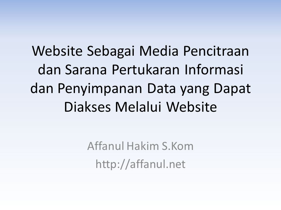 Affanul Hakim S.Kom http://affanul.net