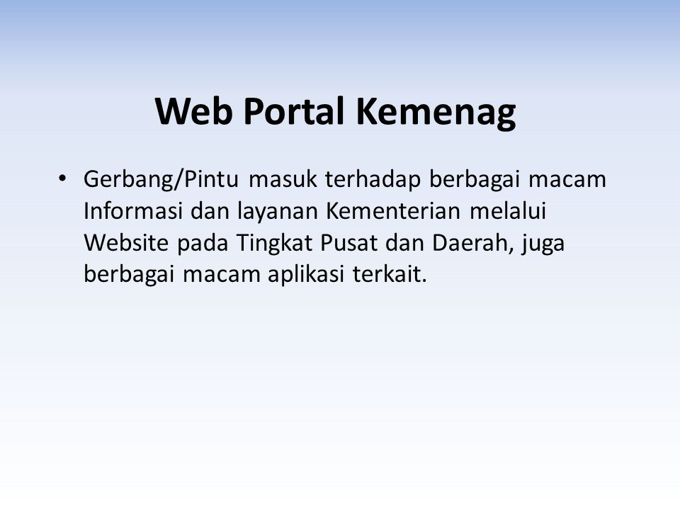 Web Portal Kemenag