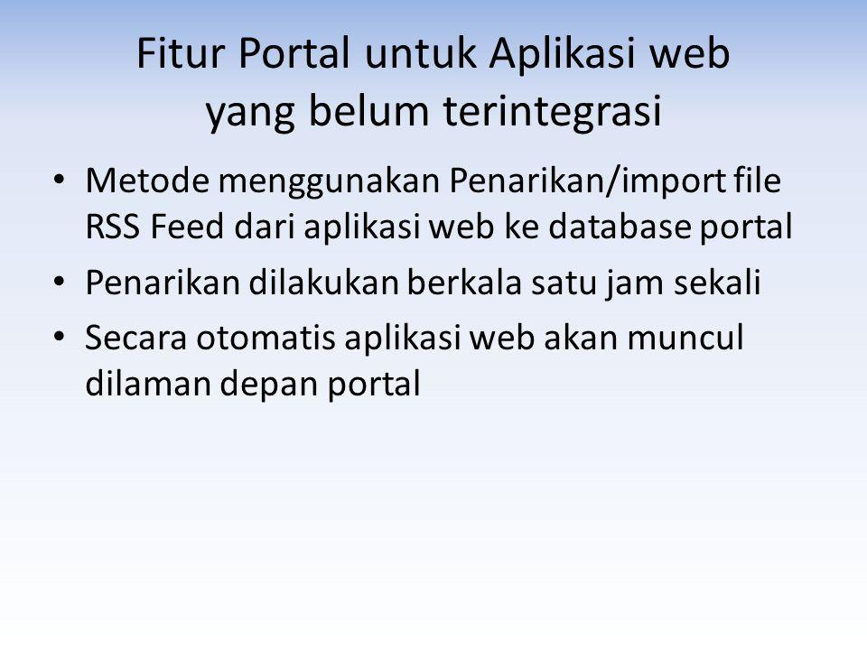 Fitur Portal untuk Aplikasi web yang belum terintegrasi