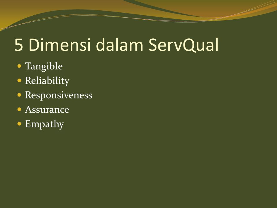 5 Dimensi dalam ServQual