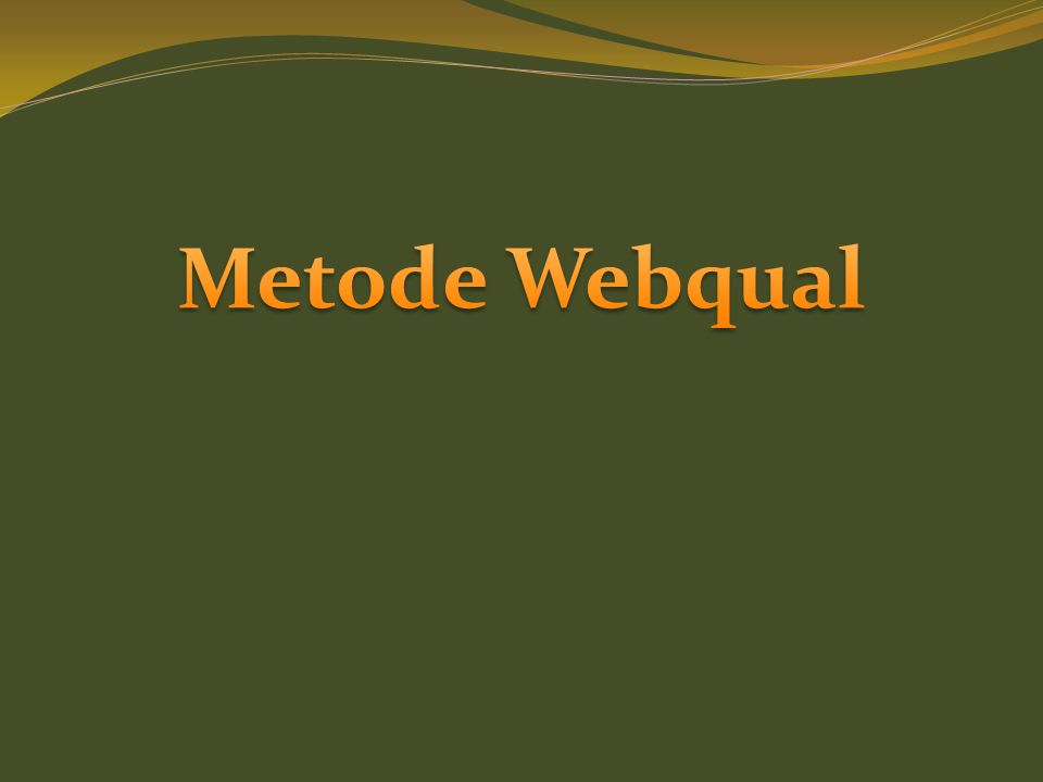 Metode Webqual