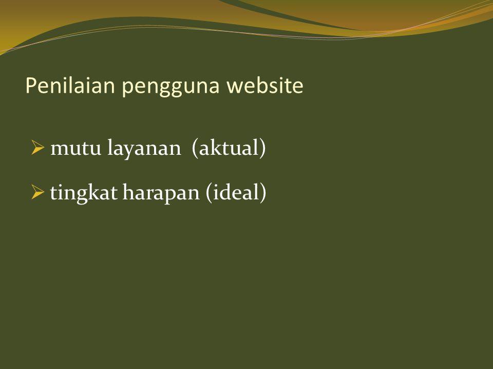 Penilaian pengguna website