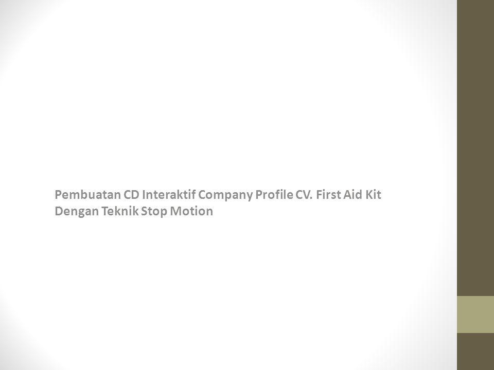Pembuatan CD Interaktif Company Profile CV