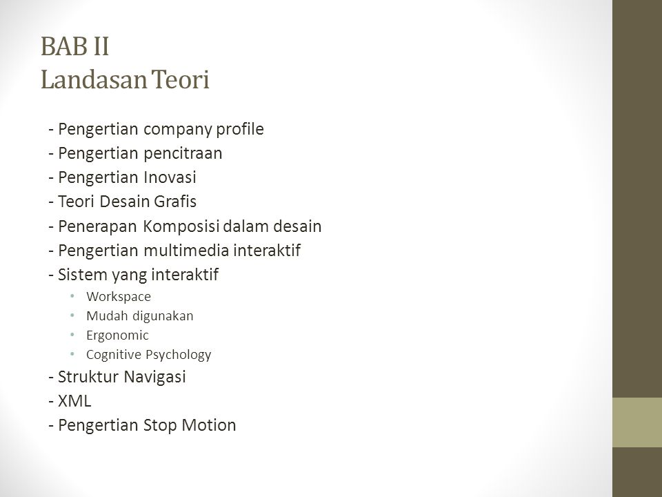 BAB II Landasan Teori - Pengertian company profile