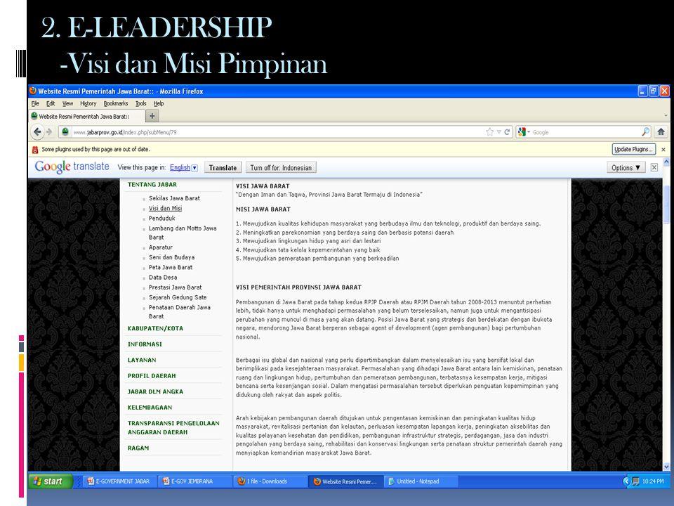 2. E-LEADERSHIP -Visi dan Misi Pimpinan