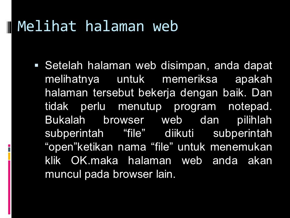 Melihat halaman web