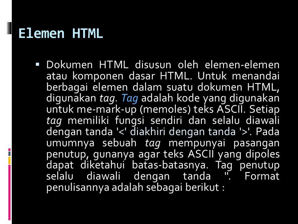 Elemen HTML