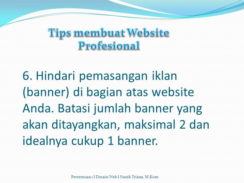 Tips membuat Website Profesional