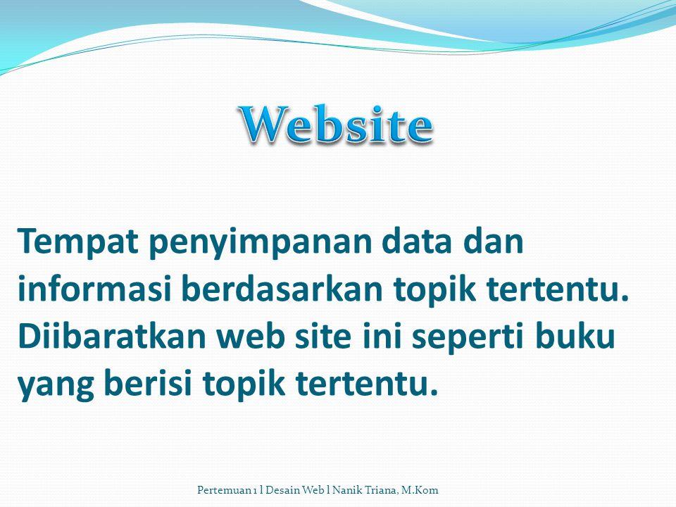 Tempat penyimpanan data dan informasi berdasarkan topik tertentu