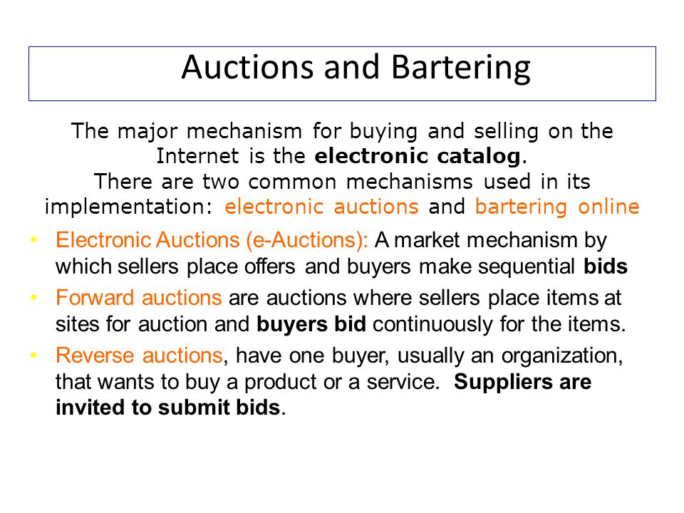 Auctions and Bartering