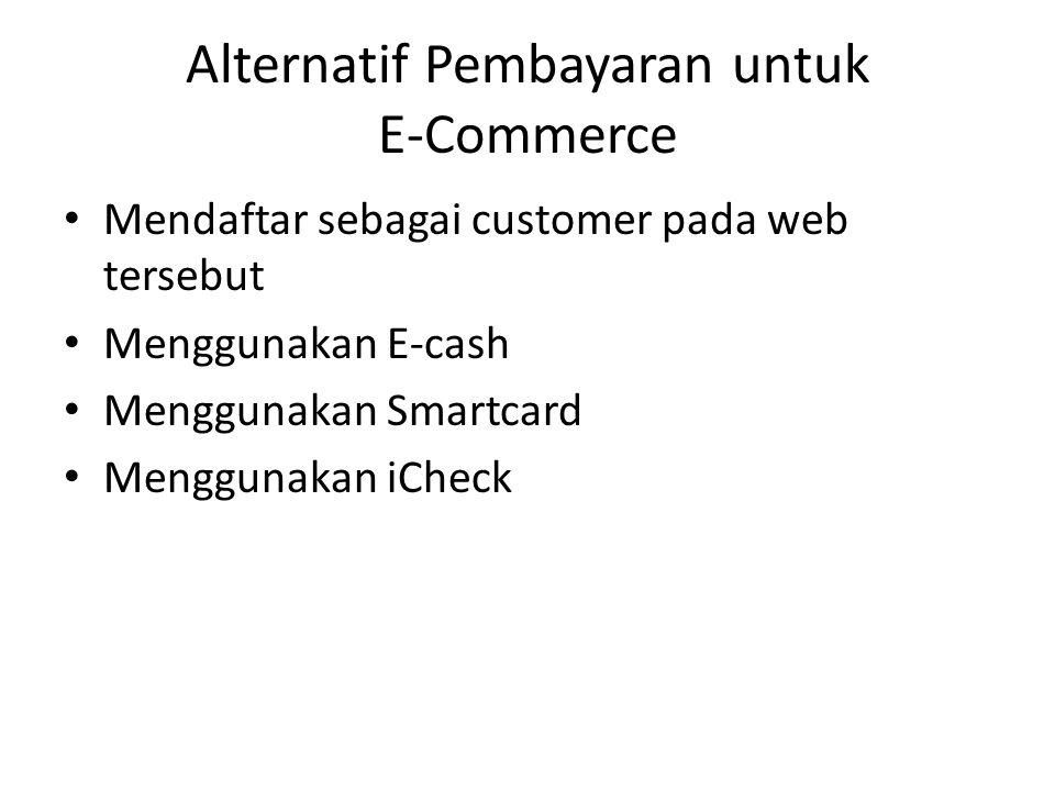 Alternatif Pembayaran untuk E-Commerce