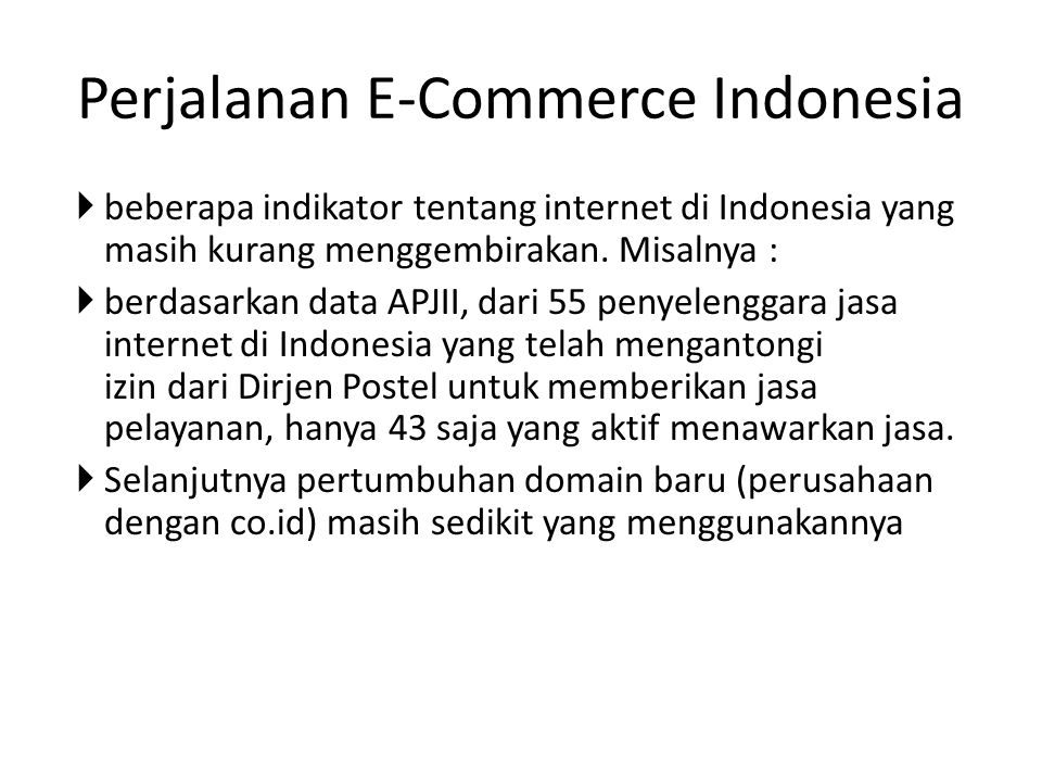 Perjalanan E-Commerce Indonesia