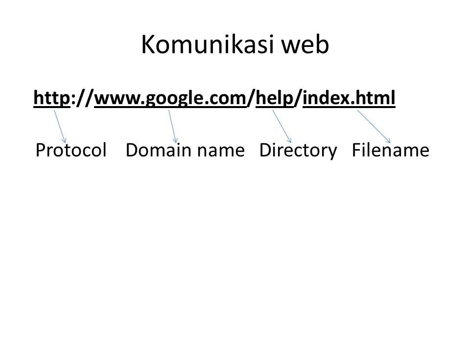 Komunikasi web http://www.google.com/help/index.html