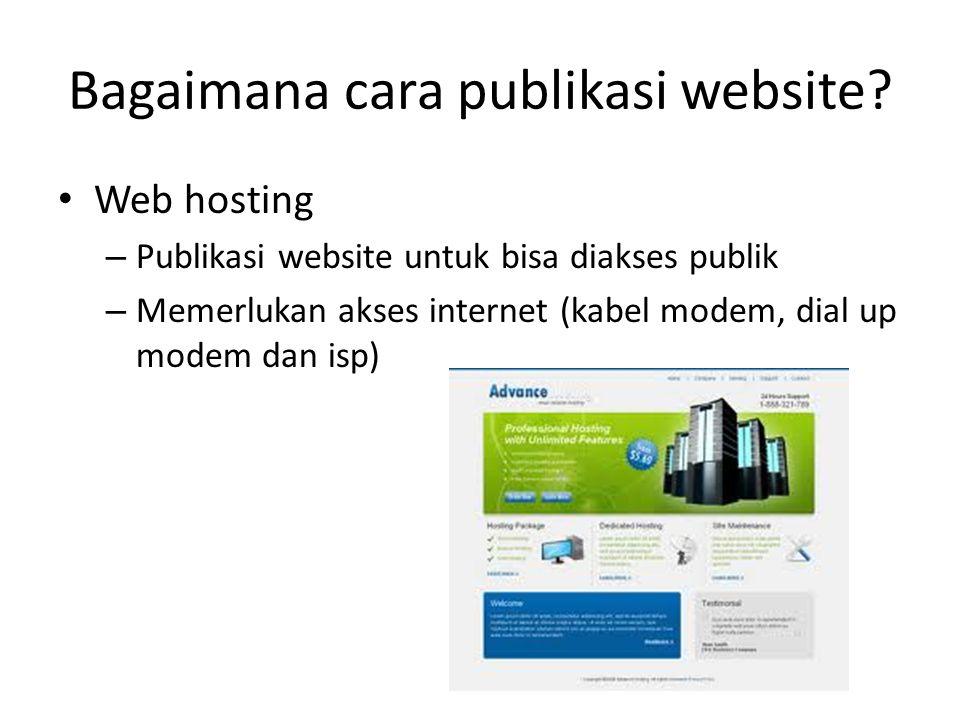 Bagaimana cara publikasi website