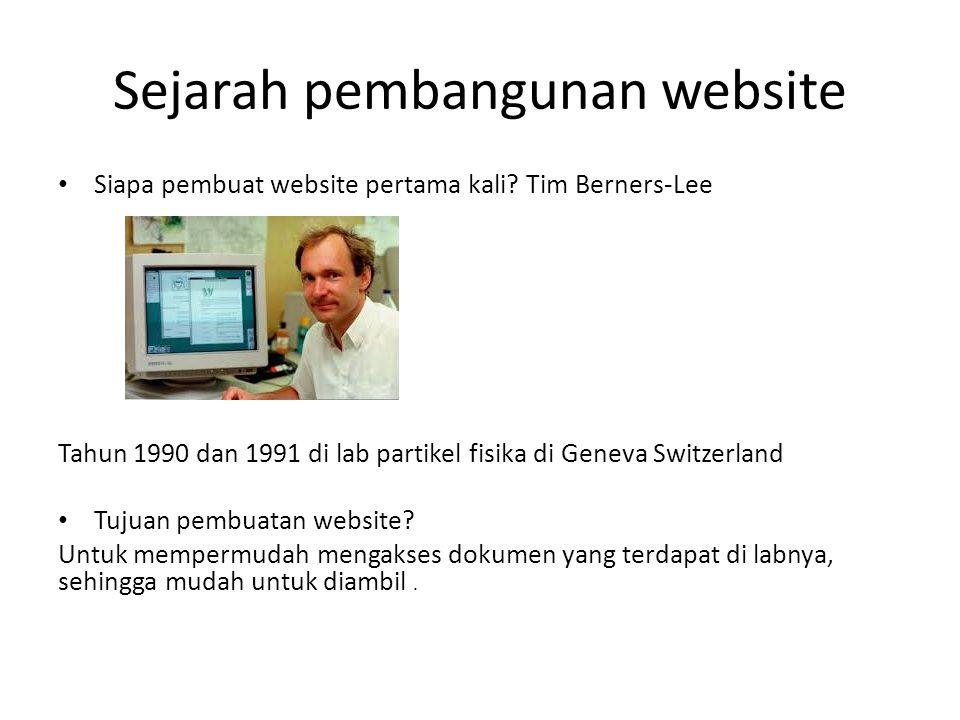 Sejarah pembangunan website