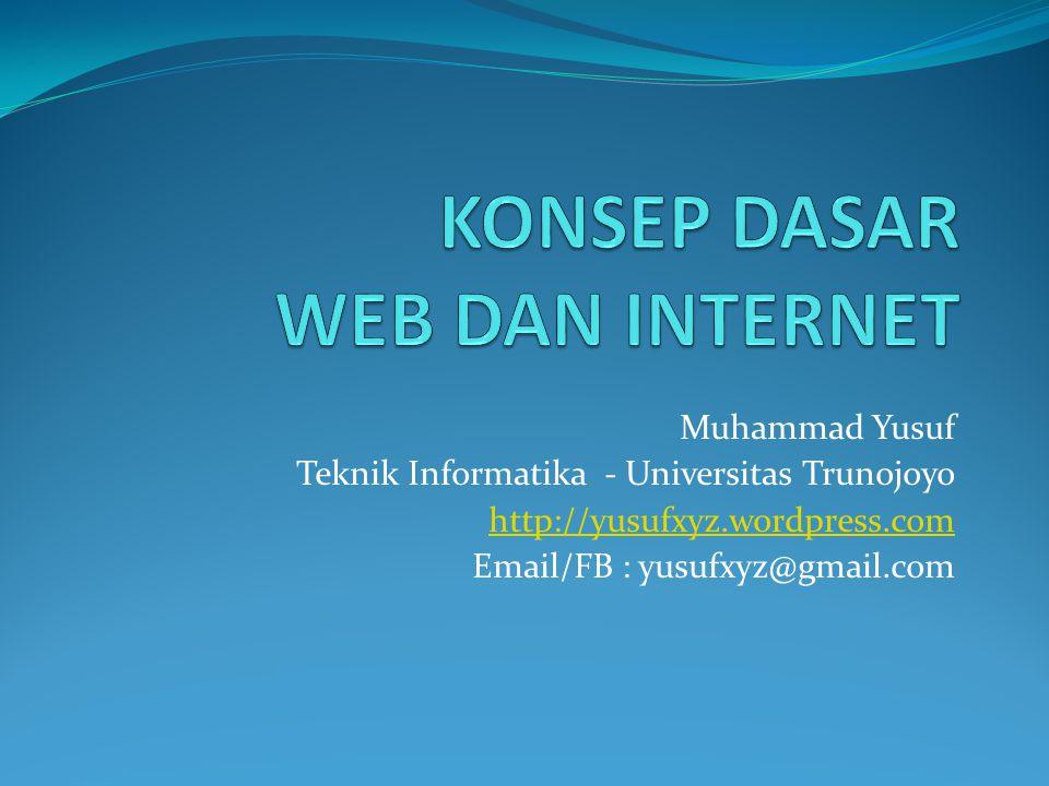 KONSEP DASAR WEB DAN INTERNET