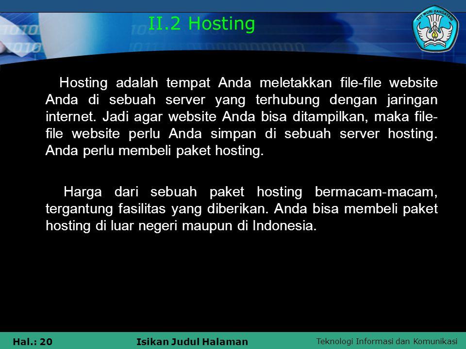 II.2 Hosting