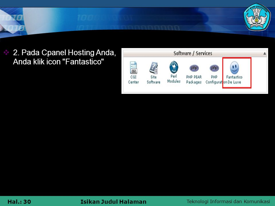 2. Pada Cpanel Hosting Anda, Anda klik icon Fantastico