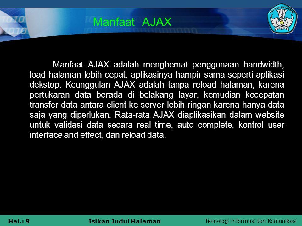 Manfaat AJAX