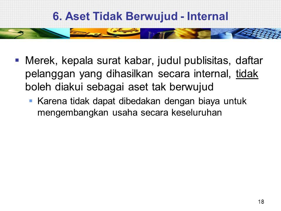 6. Aset Tidak Berwujud - Internal