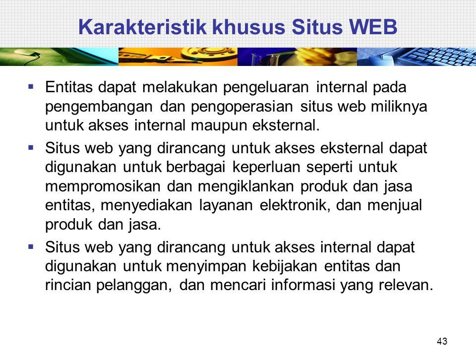 Karakteristik khusus Situs WEB