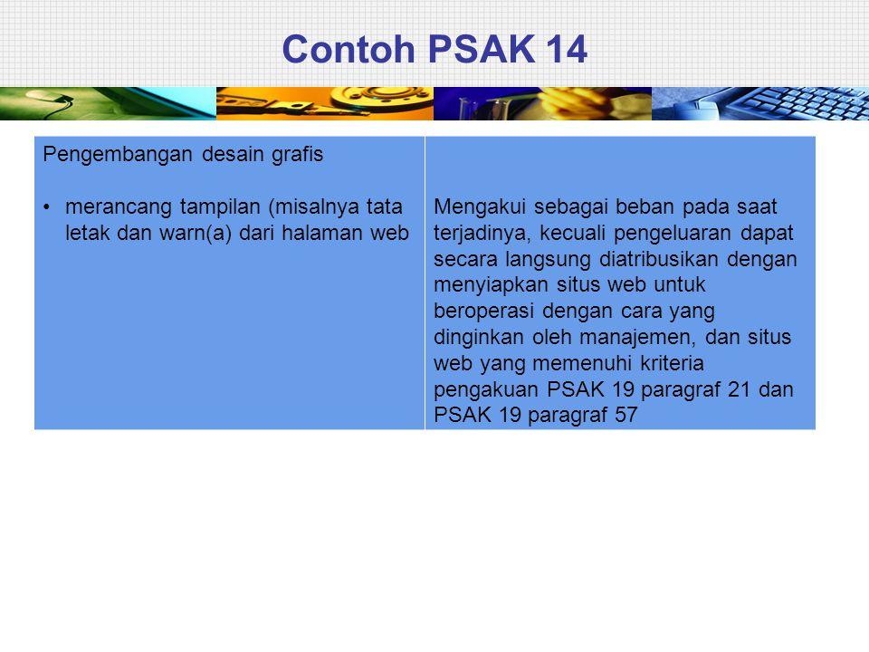 Contoh PSAK 14 Pengembangan desain grafis