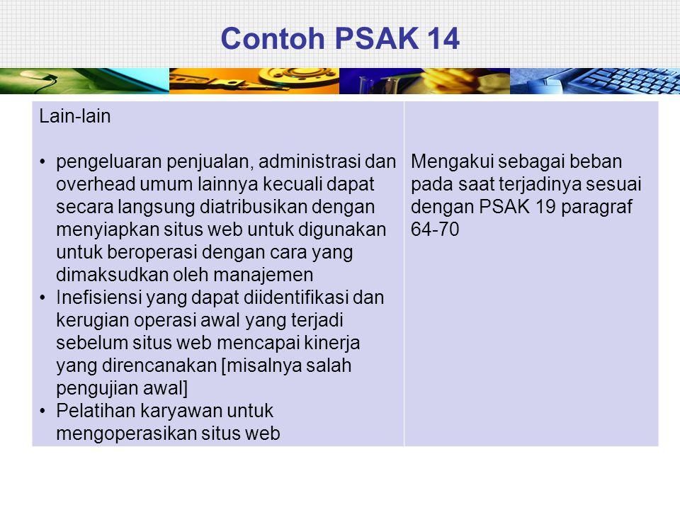 Contoh PSAK 14 Lain-lain.